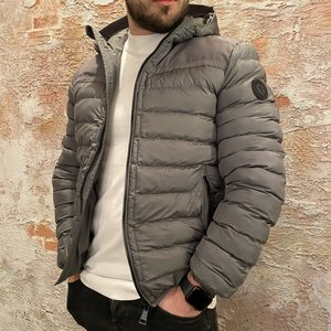 Airforce Hooded Padded jacket grijs