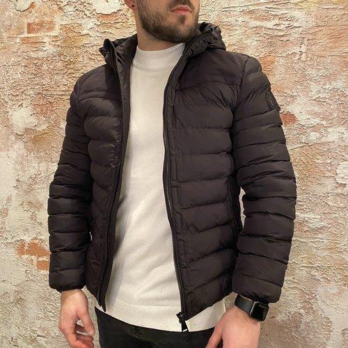 Airforce Hooded Padded jacket zwart