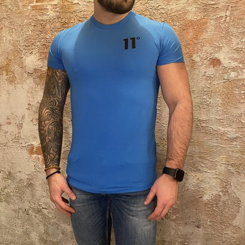 11 degrees Muscle fit t-shirt bright blue