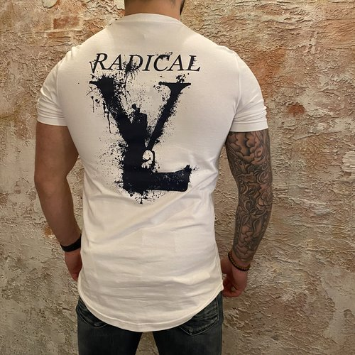 Radical Lucio t-shirt Melting Gun White Blue