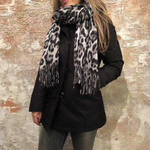 H2H Denim Sjaal met print grijs
