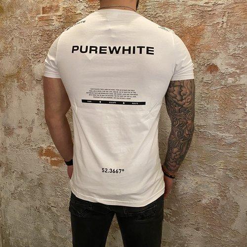 Purewhite Tekst T-shirt Back White