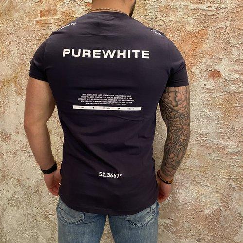 Purewhite Back Print T-shirt navy