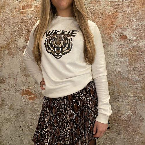 Nikkie Tiger Sweater White