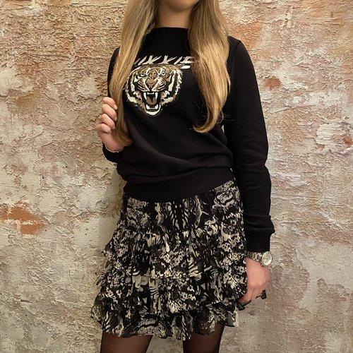 Nikkie Tiger Sweater Black