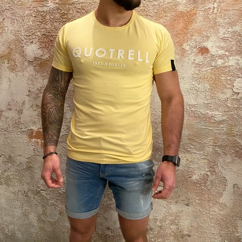 Quotrell Basic tee yellow