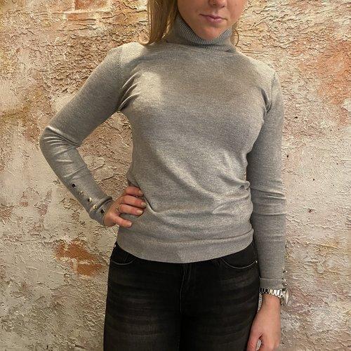 H2H Denim Coltrui met knoopjes grey one size
