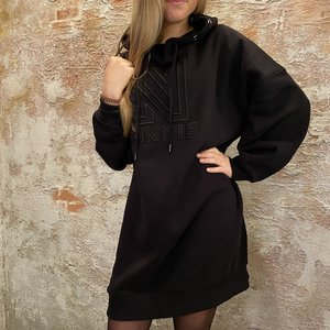 Nikkie Oversized sweat dress zwart