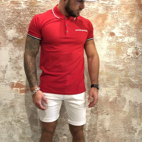 Antony Morato Polo rood wit