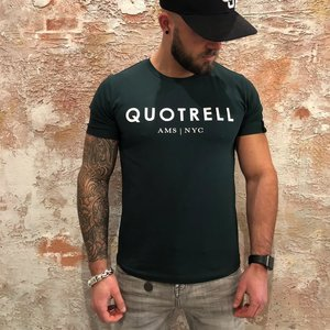 Quotrell T-shirt Petrol White