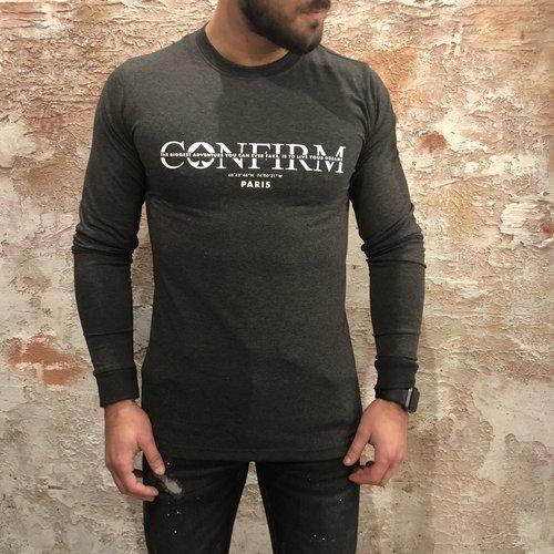 Confirm Long sleeve logo grey