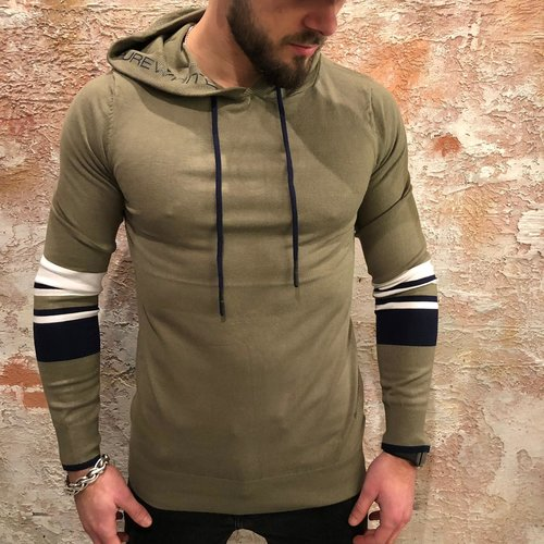 Purewhite Hooded pullover groen