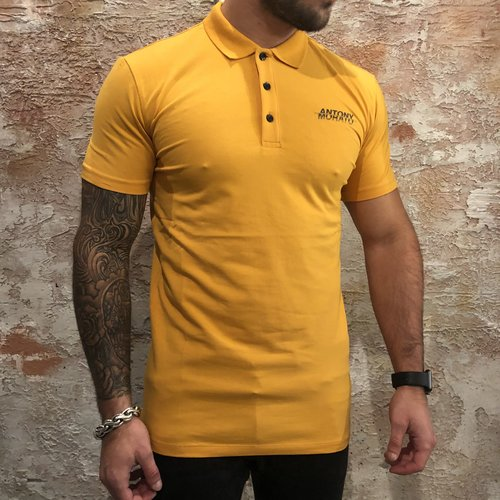 Antony Morato Polo stretch geel zwart