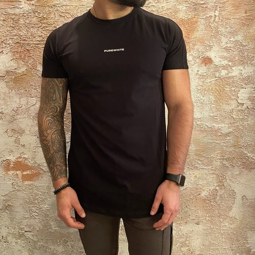 Purewhite T-shirt rug print black