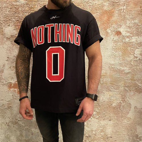 H2H Denim Oversized t-shirt zwart nothing
