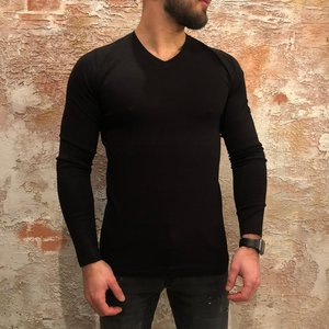 Purewhite V-neck pullover zwart