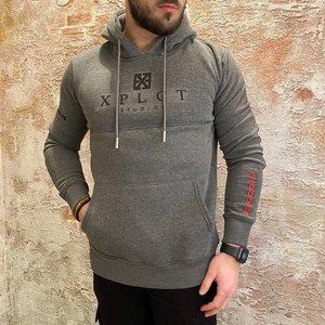Xplct Brand hoodie grijs