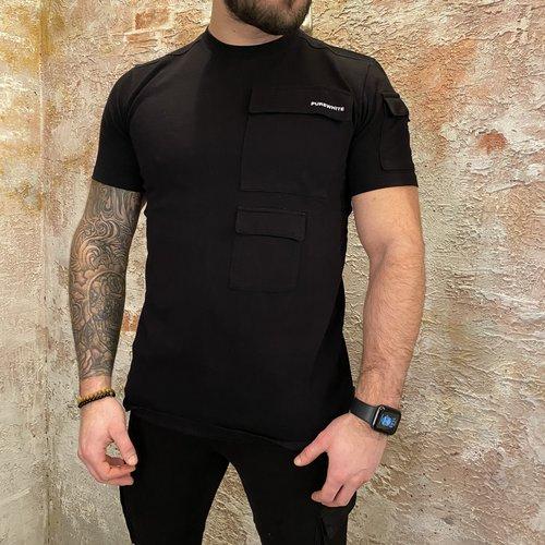 Purewhite Cargo tshirt black