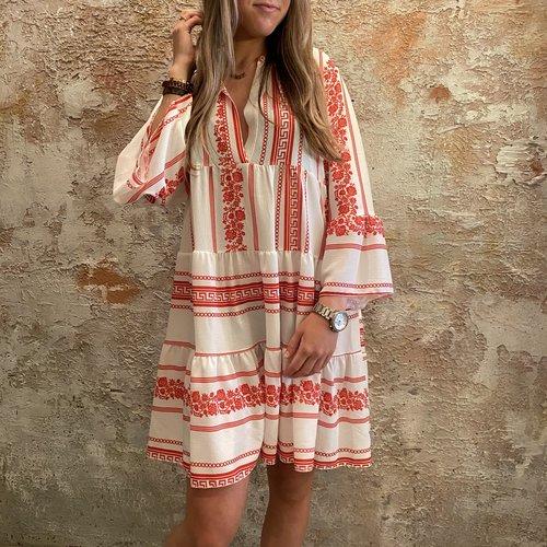 Have2have jurkjes Oversized beach dress red