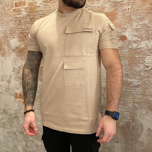 Purewhite Cargo tshirt Camel