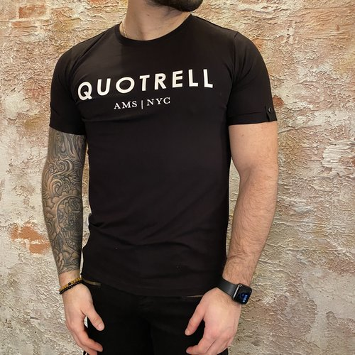 Quotrell T-shirt black white
