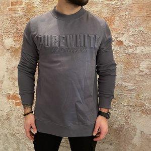 Purewhite Grey logo sweater