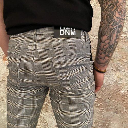 H2H Denim Pant Grijs zwart taped