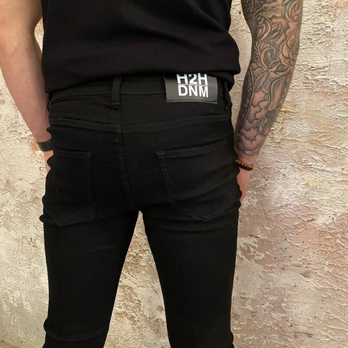 H2H Denim Black stretch denim