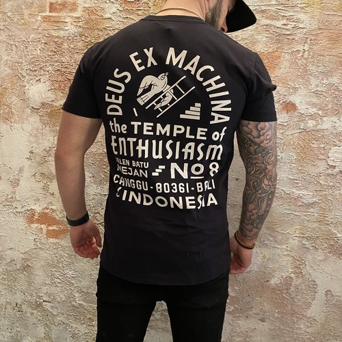 Deus T-shirt Enthusiasm zwart