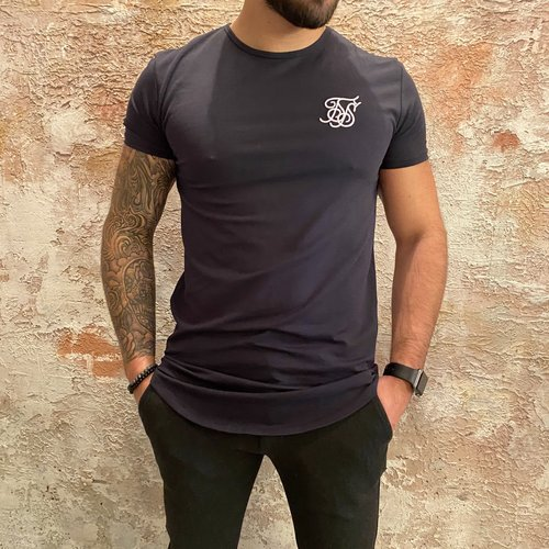 SikSilk Short Sleeve Gym Tee Blue