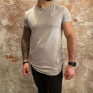 SikSilk Short Sleeve Gym Tee Grey