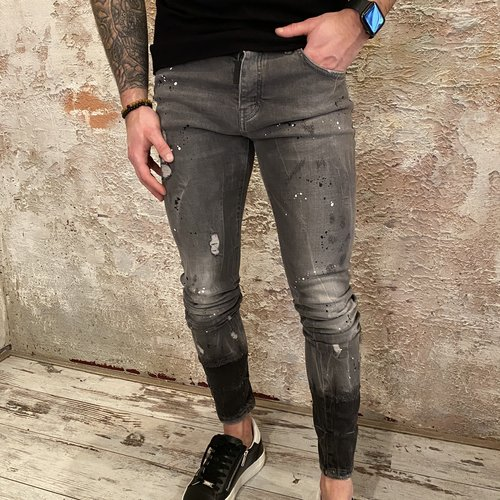 MyBrand Spotted Ripped jeans grey