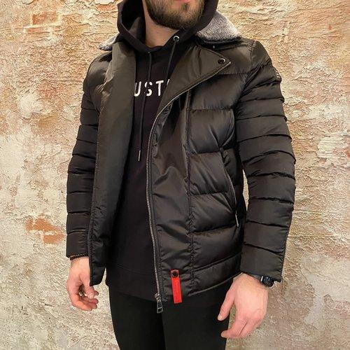 Xplct Padded jacket met kraag zwart