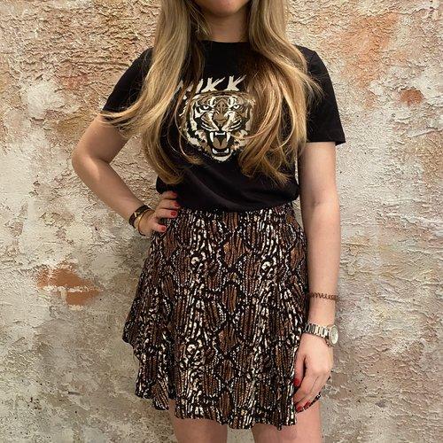 Nikkie Tiger t-shirt black