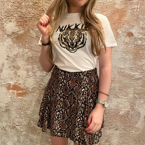 Nikkie Tiger t-shirt white