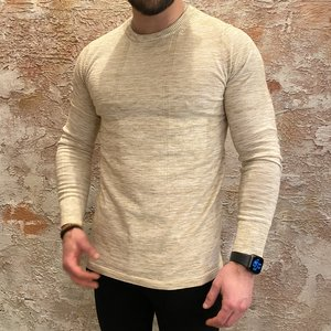 Purewhite Pullover slim fit sand