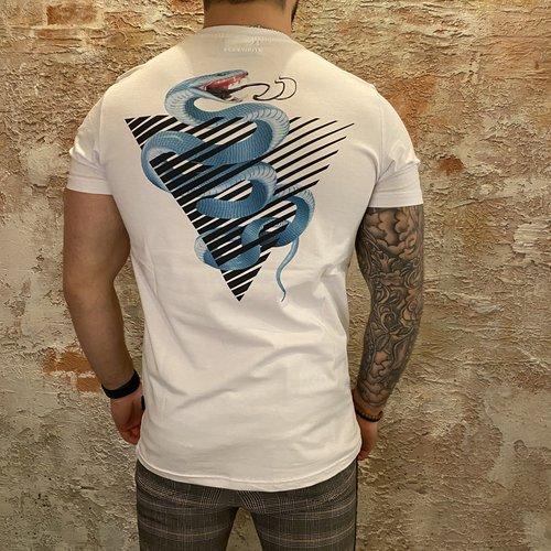 Purewhite White Snake Print t-shirt