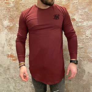 SikSilk Long Sleeve Burgundy