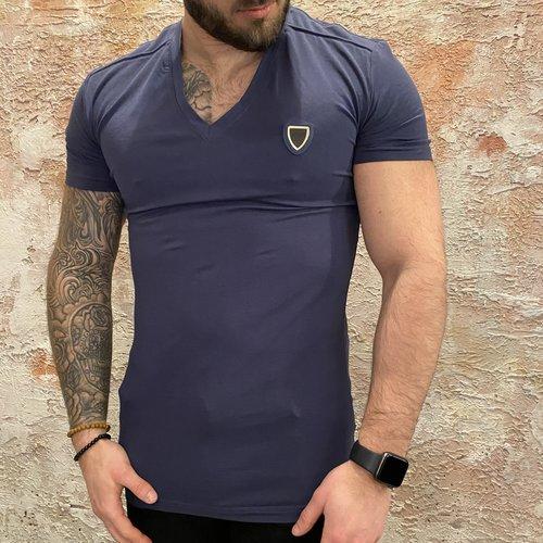 Antony Morato Vneck t-shirt persian blue
