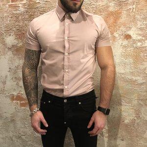 Antony Morato Shirt korte mouw pink