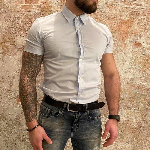 Antony Morato Shirt korte mouw blue