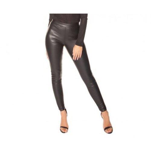 LA Sisters Faux leahter legging zwart