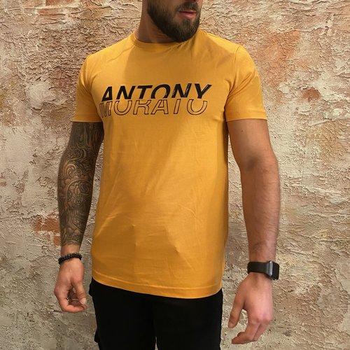 Antony Morato T-shirt geel logo