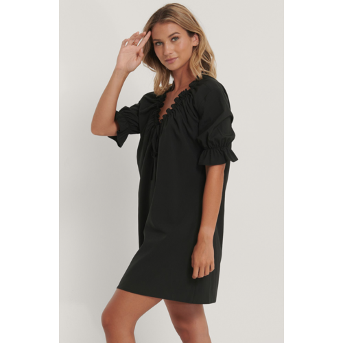 NAKD Drawstring Neck Dress Black