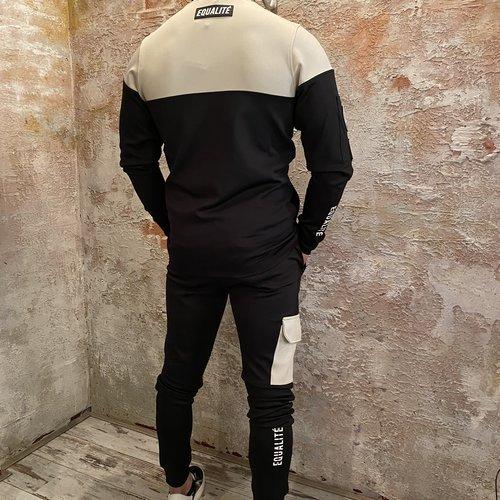 Equalite Future tracksuit black beige