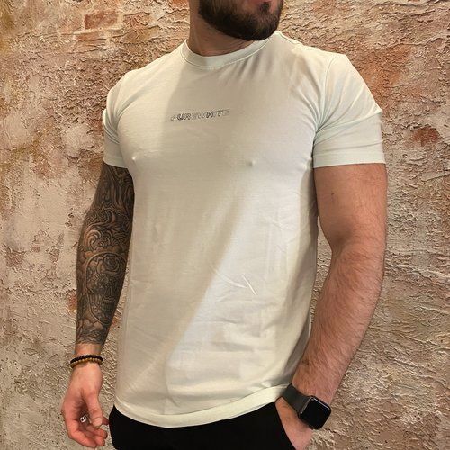 Purewhite T-shirt Color Aqua