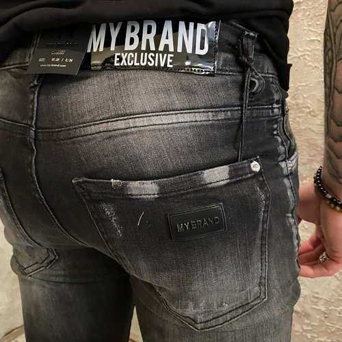 MyBrand Distressed black jeans