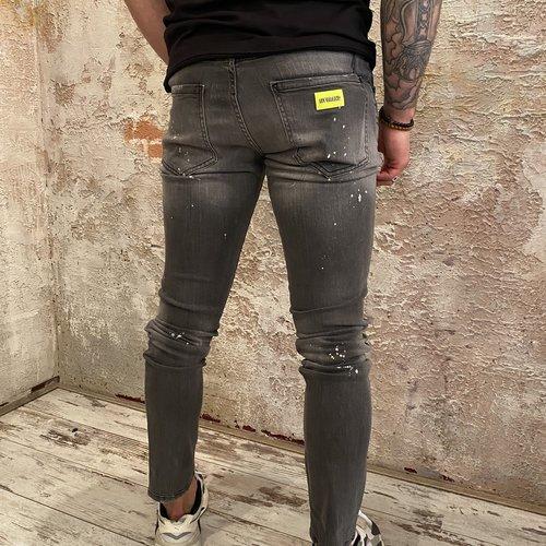 MyBrand Neon yellow grey jeans