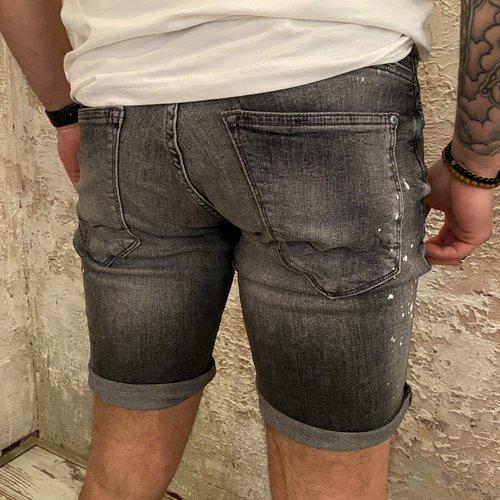 Purewhite Short The Steve splatter grey