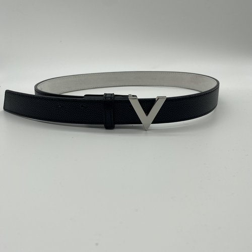 Valentino by Mario Valentino Belt silver logo